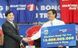 Lễ xuất quân mùa bóng 2010 và ra mắt nhà tài trợ mới của đội Becamex Bình Dương: Maritime Bank tài trợ 15 tỷ đồng
