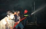 Cháy lớn tại Công ty sản xuất ván ép Thành Thái