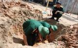 Phát hiện quả bom sắp phát nổ tại Hà Nội