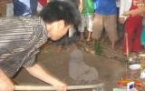 """Nhiều người dân đổ xô đi xem khối đất hình... """"tượng Phật""""!"""