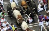 """Lễ hội """"bò rượt"""" ở Tây Ban Nha"""