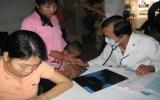Siêu âm, chẩn đoán cho 73 trẻ bị bệnh tim