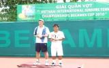 Kết thúc giải quần vợt U18 ITF, Becamex Cup 2010: Hoàng Thiên lần thứ hai lên ngôi vô địch