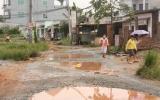 Đường k8, thị xã Thủ Dầu Một: Ô nhiễm nặng vì thi công bị gián đoạn