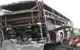 Cháy xe khách, 33 hành khách may mắn thoát nạn