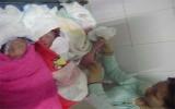 Sản phụ sinh 3 bé trai