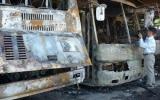 Cháy lớn ở bến xe Biên Hòa, nhiều ôtô bị thiêu trụi