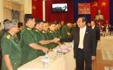 Lãnh đạo tỉnh chúc tết lực lượng vũ trang và một số cơ quan, đơn vị