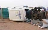 Phú Giáo: Xe container lật đè chết 4 người