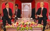 Tô thắm tình hữu nghị sắc son Việt-Lào