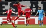 Lượt đi vòng 1/8 Europa League: Man City và Liverpool trắng tay trên sân khách
