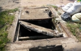 Đường ĐT741 đoạn qua Phú Giáo có hàng loạt hố ga mất nắp!