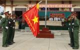 Ban Chỉ huy Quân sự Thuận An đón nhận Quân kỳ Quyết thắng