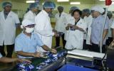 Phó Chủ tịch nước Nguyễn Thị Doan:  Phải nghĩ cách giữ công nhân làm việc lâu dài