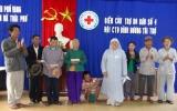 Hội chữ thập đỏ tỉnh:  Cứu trợ đồng bào miền Trung bị thiệt hại do cơn bão số 4