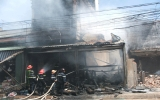 Cháy lớn thiêu rụi một căn nhà
