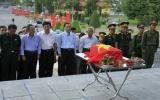 Lễ truy điệu, cải táng hài cốt liệt sĩ Nguyễn Văn Mấy