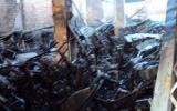 Hỏa hoạn thiêu rụi gần 100 xe máy tại Kon Tum
