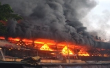 Cháy chợ lớn nhất Quảng Ngãi do chập điện