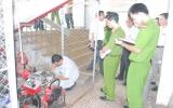 Đoàn kiểm tra liên ngành về PCCC làm việc tại siêu thị Vinatex và chợ Thủ Dầu Một