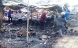 Quảng Bình: Chợ Đồng Hới bốc cháy trong đêm