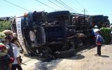 Xe tải mất thắng, 3 người chết, 6 người bị thương