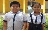 2 học sinh tiểu học nhặt được 16 triệu đồng, trả lại người bị mất