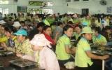 Báo động chất lượng bữa cơm công nhân