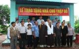 Hội Chữ thập đỏ tỉnh: Trao nhà chữ thập đỏ cho người nghèo xã Thạnh Hội