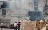 Cháy lớn tại công ty gỗ