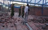 Sập tường công trình, 4 công nhân thiệt mạng