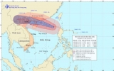 Bão số 5 cách quần đảo Hoàng Sa khoảng 670 km