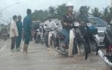 Mưa gây lũ ở xã Tân Hiệp, huyện Tân Uyên