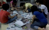 CLB tình nguyện Bồ Câu Trắng Bình Dương vui trung thu với trẻ em nghèo