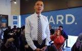 Chùm ảnh Obama ăn mừng, phe Romney thất vọng