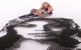Chân dung ca sĩ Beyonce làm từ 3.780 chiếc bánh Oreo