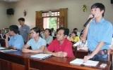 Gặp gỡ giữa lãnh đạo tỉnh, huyện Bến Cát: Công nhân lao động đưa ra nhiều vấn đề bức xúc
