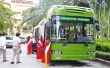 Ra mắt xe buýt sạch đầu tiên tại Việt Nam