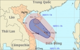 Áp thấp nhiệt đới trên Biển Đông giật cấp 9
