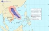 Áp thấp nhiệt đới cách quần đảo Hoàng Sa 500km