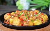 Đậu trứng sốt thịt cà chua