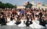 Tổ chức lễ cưới tập thể cho 100 đôi vợ chồng công nhân