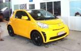 Toyota iQ cách điệu với màu vàng Lamborghini tại Sài Gòn