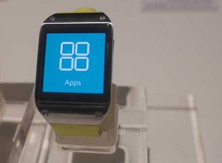Chiếc đồng hồ thông minh của Samsung cũng được cài đặt các ứng dụng như smartphone.