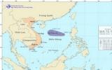 Một áp thấp nhiệt đới mới hình thành trên biển Đông