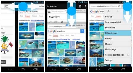 Chrome 30 cho Android hỗ trợ nhận diện cử chỉ ngón tay người dùng trên màn hình