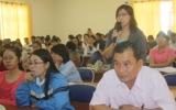 Bảo hiểm xã hội Bình Dương tiếp xúc với cán bộ công đoàn