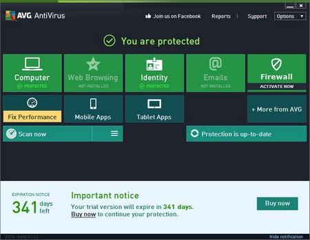 AVG Antivirus Pro có hạn dùng lên đến hơn 340 ngày