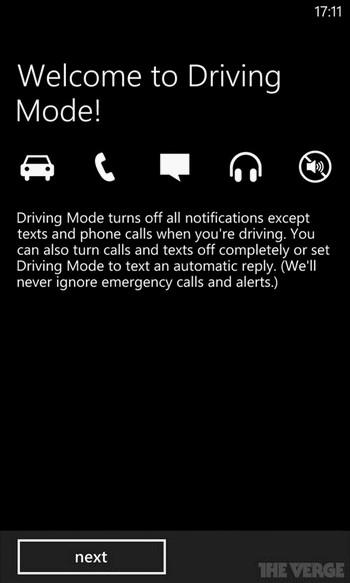 Thiết lập chế độ lái xe (Driving Mode) trên bản nâng cấp của Windows Phone 8