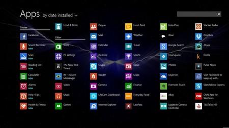 Người dùng có thể dễ dàng gọi danh sách đầy đủ các ứng dụng đã cài đặt trên Windows 8.1